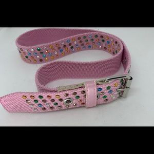 Other - 💕Girls fashion belt pink with colored studs. 6X